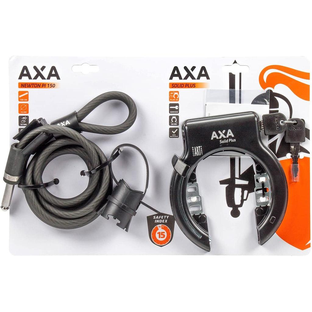 Cadenas Axa solid plus (roue+cable10mm)